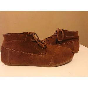 Toms Suede Bootie, like new